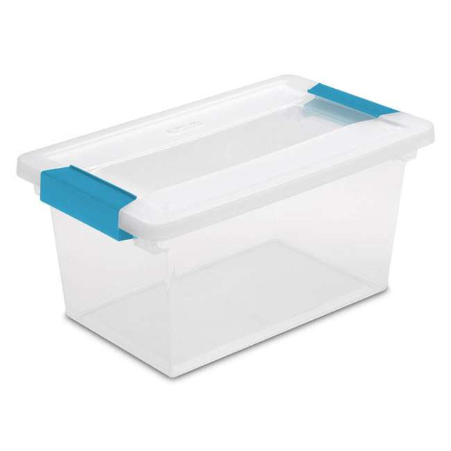 32 x 19628604-U-A Sterilite Medium Clip Box Clear Storage Tote Container (Open Box) (32 Pack)