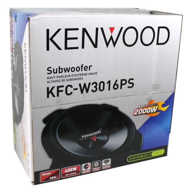 KFC-W3016PS + QBASS12 Kenwood 12-inch 2000 Watt Car Subwoofer (Pair) + Q Power Dual 12-inch Vented Port Sub Enclosure Box 6