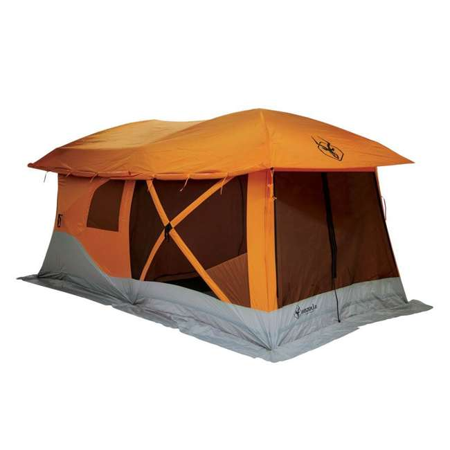GAZL-26800-U-B Gazelle Tents T4 Plus Outdoor Pop Up 8 Person Hub Tent with Screen Room, Orange 2