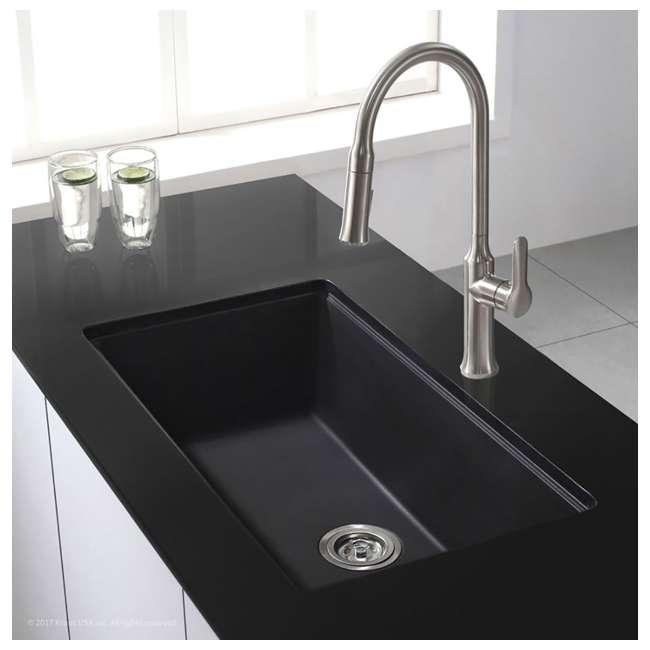 KGU-413B Kraus 31-Inch Rectangle Undermount Black Onyx Kitchen Sink (2 Pack) 4