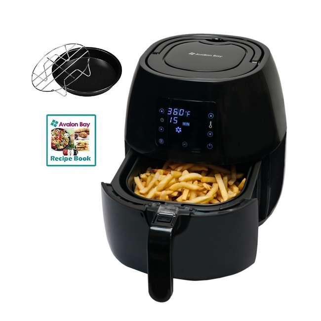 AB-AIRFRYER230B + 36-3501-W Avalon Bay Digital Display Healthy Air Fryer & Restaurant-Style French Fry Cutter 1