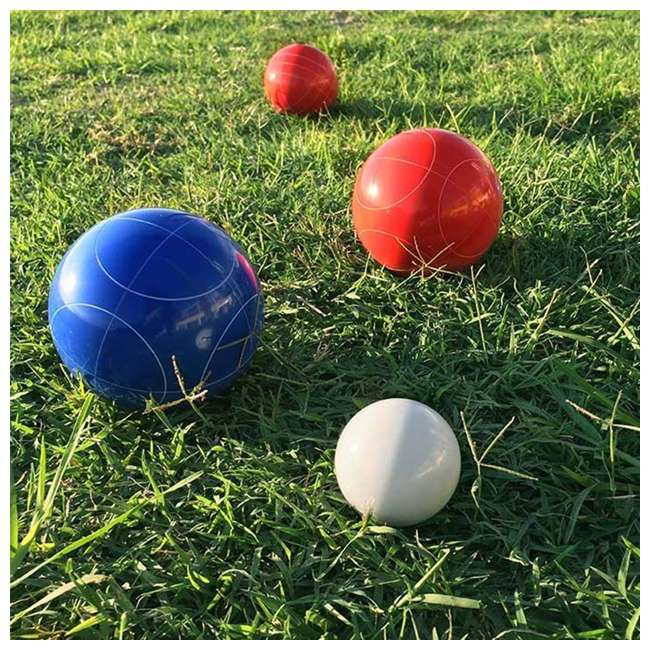 BOCCE-004 Classic 8-Ball 2-Color Backyard Bocce Ball Game Set 3