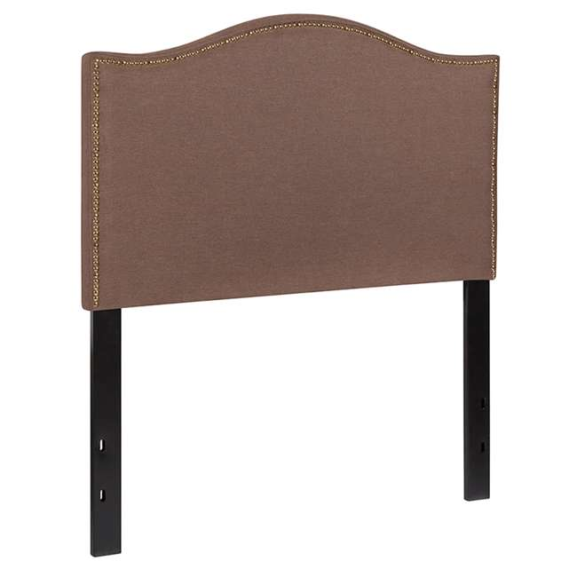 HG-HB1707-T-C-GG Flash Furniture Lexington Upholstered Twin Size Headboard with Camel Fabric 1