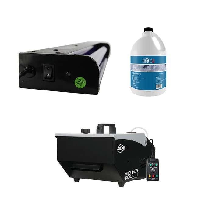MISTER-KOOL-II ADJ Mister Kool II Fog Machine + 24 Inch Black Light + DJ 1 Gallon Fog Juice