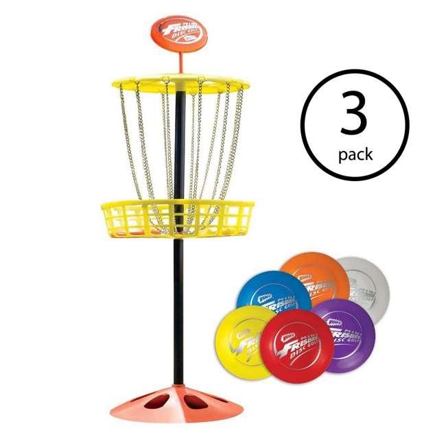 3 x 51091 Wham-O Mini Frisbee Golf Set (3 Pack)