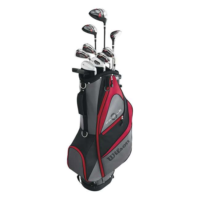 WGGC5800L + WGWP40000 Wilson Profile XD Men's Left Handed Golf Club Package Set & Balls 2