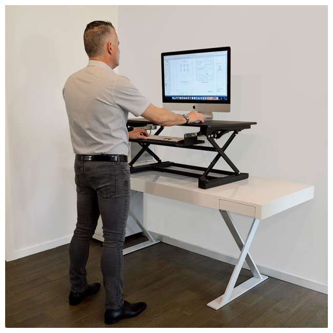 XAFD-M1 xec-FIT Adjustable Height Convertible Sit to Stand Up Desk Laptop Desktop Riser  6