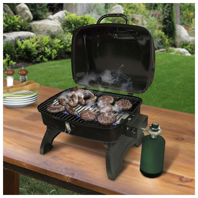TT250 Smoke Hollow TT250 Single Burner 250 Sq. In. Tabletop Portable Gas Grill, Black 5