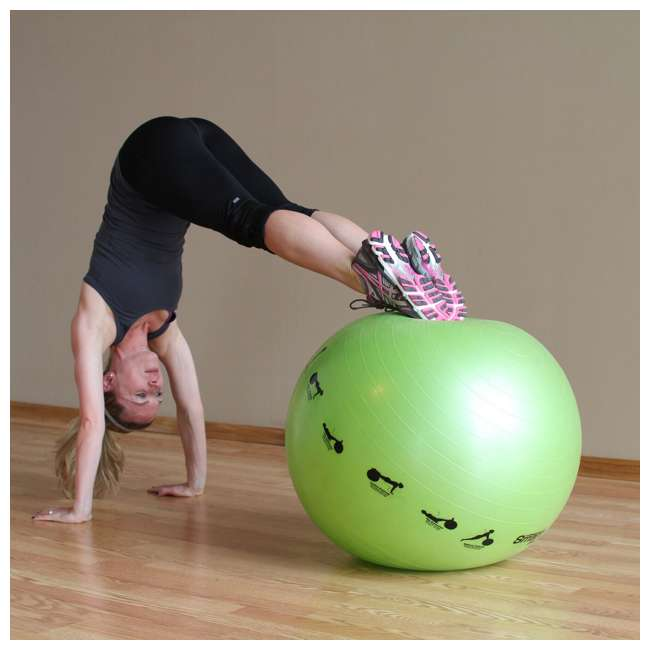 400-150-012 Prism Fitness 75cm Smart Self-Guided Stability Exercise Medicine Ball, Blue 2