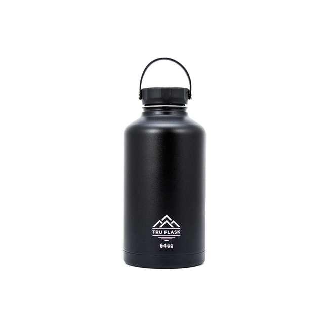 TF64 Black TruFlask 64oz Stainless Steel Water Bottle, Black