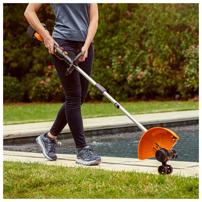 "WG184 WORX WG184 13"" 40V Lithium-Ion Cordless String Trimmer with Batteries & Charger 2"