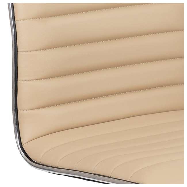 DS-512B-TAN-GG Flash Furniture Swivel Foam Molded Seat Dual Wheel Casters Chair, Glossy Tan 6