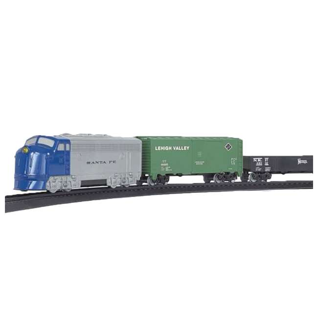 00957 Bachmann Industries 24-Piece HO Scale Battery Operated Rail Express Kid Train Set with Sound, Blue 8