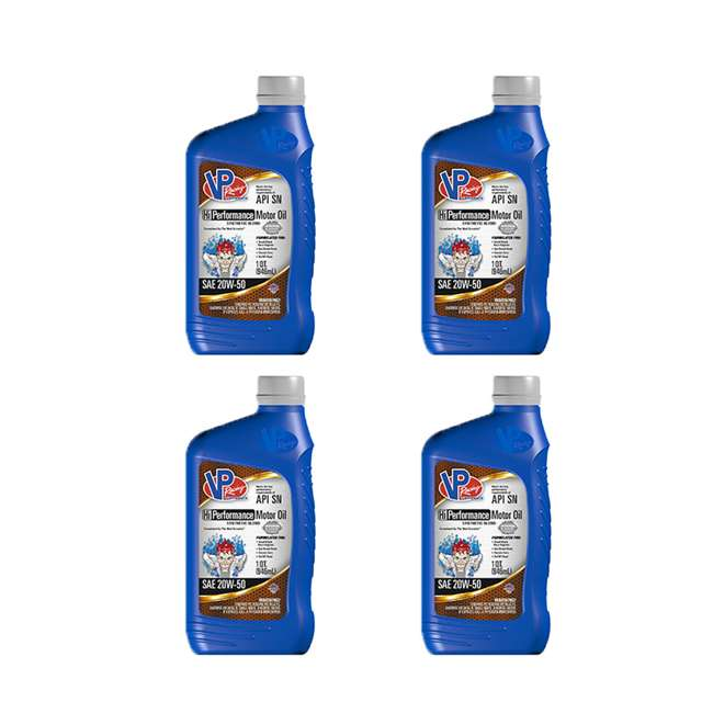 4 x 2975 VP Racing Fuels 1 Quart 20W 50 High Performance Synthetic Motor Oil(4 Pack)