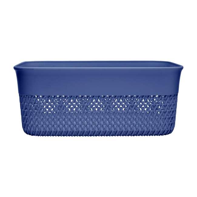 6 x BSK-10-BLU Life Story Lightweight Storage Woven Trendy Basket 10 Quarts, Blue (6 Pack) 3