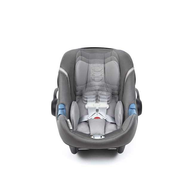 518002089 Cybex Aton M Newborn Infant Baby Car Seat with SafeLock Base, Lavastone Black 4