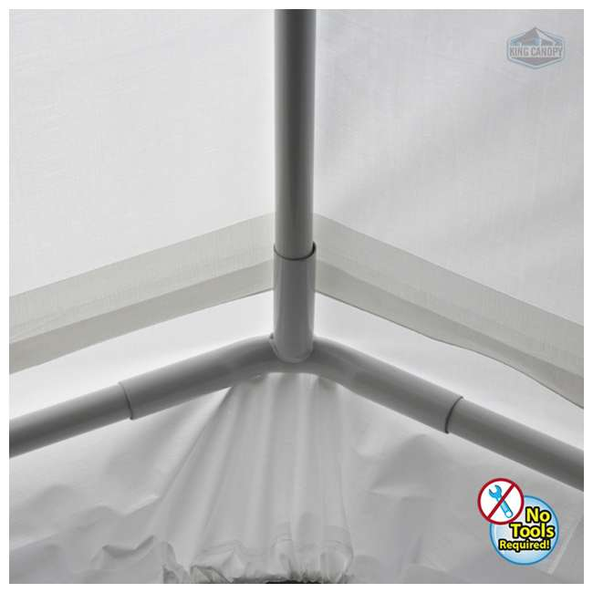 C81020PC King Canopy 10 x 20 Foot Universal Canopy, White 4