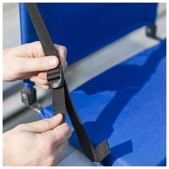 1-1-58814-DS EastPoint Sports Adjustable Bleacher Backrest Seat, Royal Blue 3