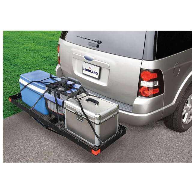 1042000 Highland 1042000 500 Pound Capacity Hitch Mounted Cargo Carrier Tray, Black 1