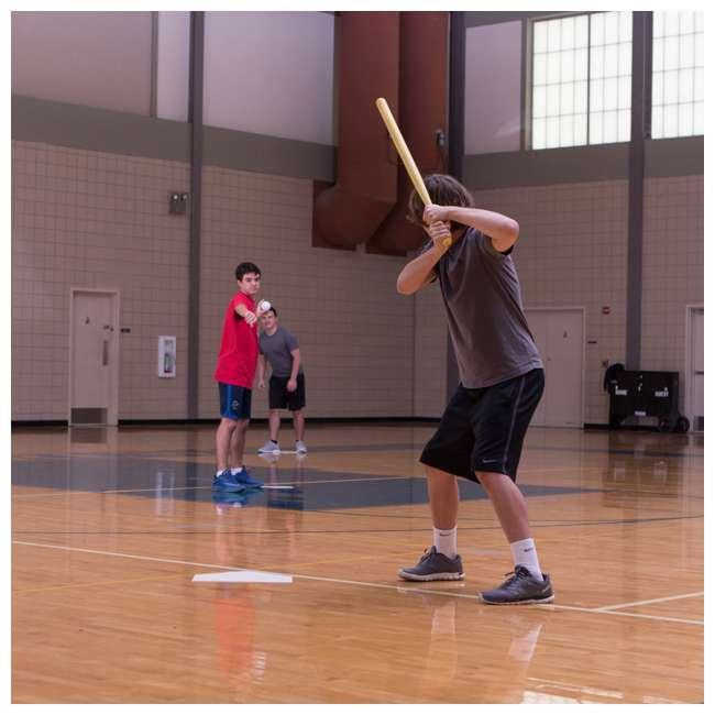 97W Champion Sports Indoor Outdoor Baseball Softball Throwdown Bases Set, White 6