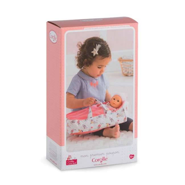 FRN89 Corolle Mon Premier Poupon Carry Travel Bed Accessory for 12 Inch Baby Dolls 6