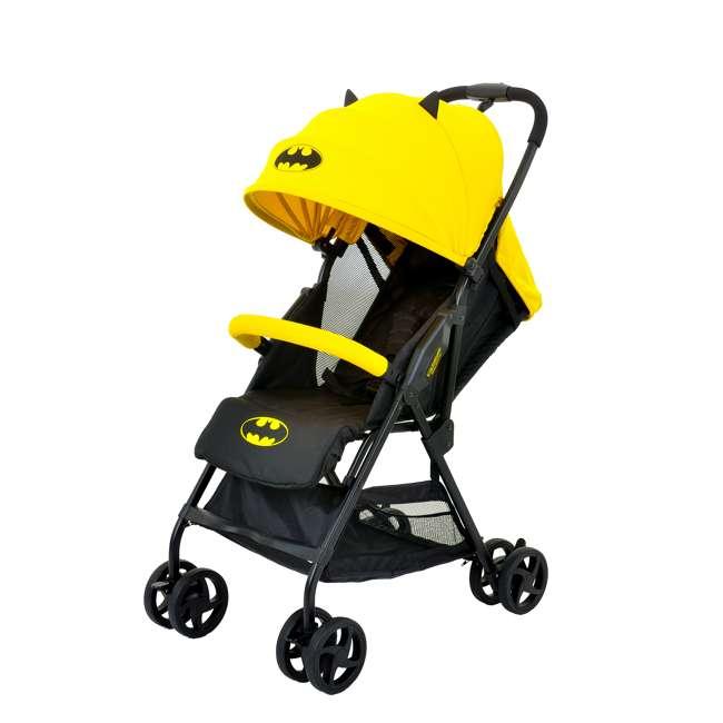 KE-7701BATYL Kids Embrace DC Comics Batman Lightweight Compact Stroller with Canopy, Yellow