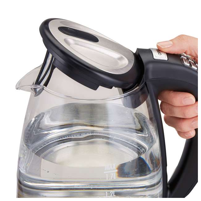 40941-HB Hamilton Beach 1.7 Liter Clear Glass Programmable Electric Tea Kettle 3