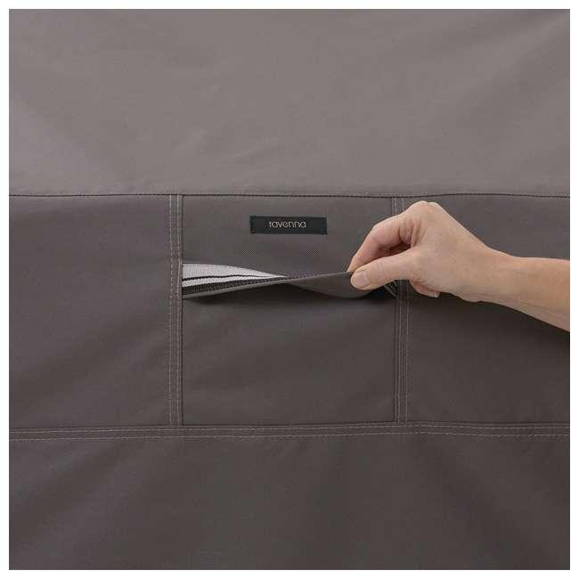 55-163-045101-EC-U-A Classic Accessories Ravenna Patio Chaise Lounge Cover, Dark Taupe (Open Box) 4
