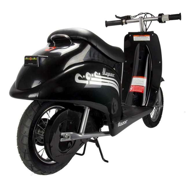 15130601 + 97778 + 96785 Razor Pocket Mod Scooter (Black) with Helmet, Elbow and Knee Pads 3