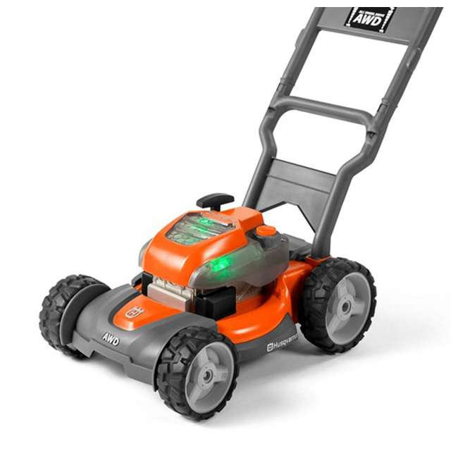 HV-TOY-589289601 + HV-TOY-585729103 Husqvarna Battery-Powered Toy Lawn Mower and Battery Operated Toy Hedge Trimmer 5