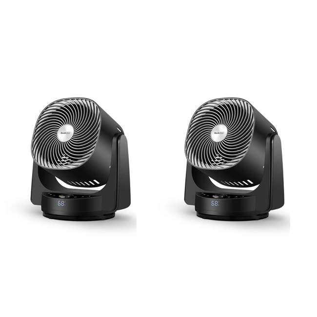 AF1S Geek Aire AF1S 8 Inch Indoor Desk Floor Oscillating Fan with 4 Speeds (2 Pack)