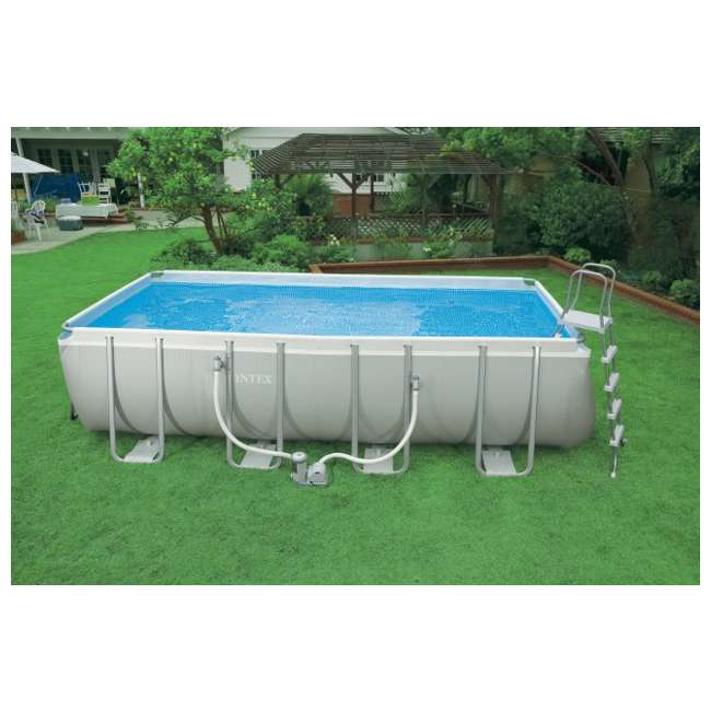 Intex 18 39 x 9 39 x 52 ultra frame rectangular swimming pool for Piscina 6000 litros