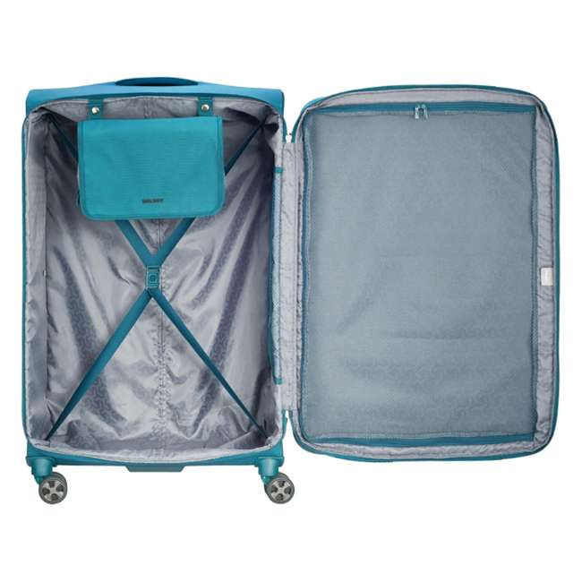 "40229183032 DELSEY Paris 29"" Expandable Spinner Upright Hyperglide Luggage Suitcase, Teal 3"