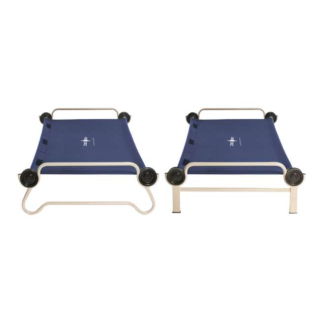 30602BO Disc-O-Bed XL Cam-O-Bunk Bench Bunked Organizers Double Camping Cot, Navy Blue 2