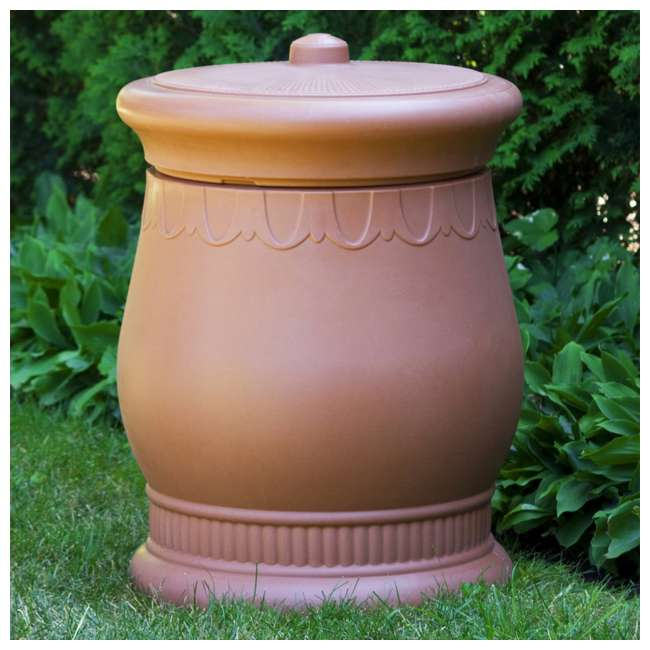 SV-URN-TC Good Ideas Savannah Decorative 30 Gallon Storage & Waste Basket Urn, Terra Cotta 1