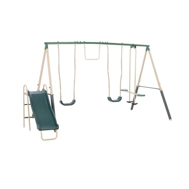 XDP-94444 + XDP-70113 XDP Recreation Childrens Outdoor Metal Play Swing Set Swing Set & Anchor Kit 1