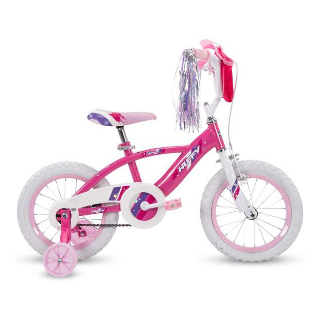 72038 Huffy Glimmer 12 Inch Age 3-5 Kids Bike Girls Bicycle with Training Wheels, Pink 1