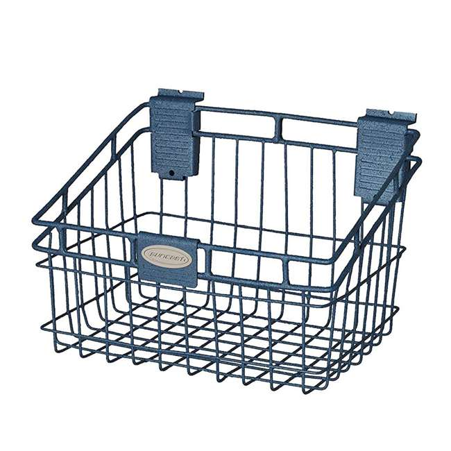 MB0812 Storage Trends 8 x 12 Inch Mounted Wire Basket, Blue