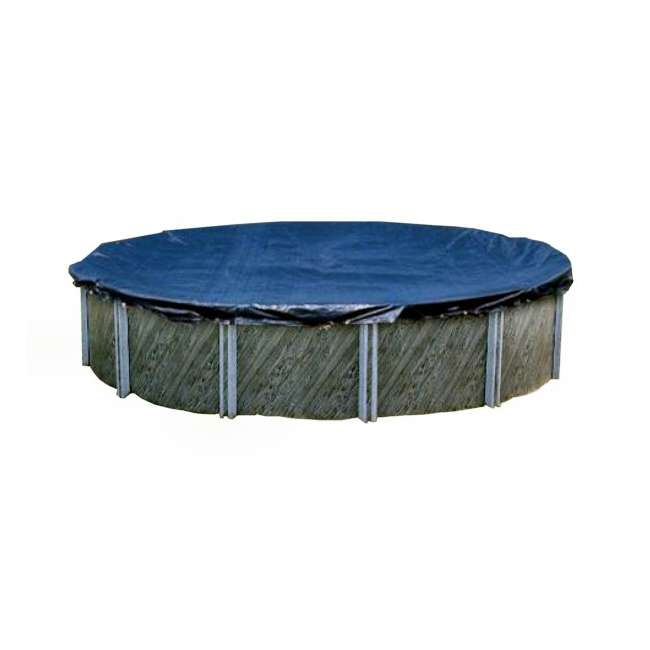 PCO831-U-A Swimline  28-Foot Round Above Ground Pool Cover, Blue + Tools (Open Box)(2 Pack)