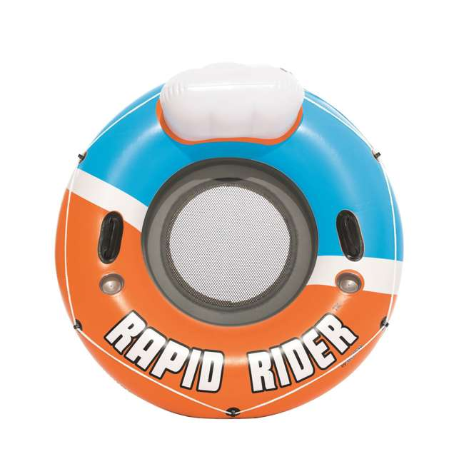 12 x 43116E-BW-NEW-U-A Bestway CoolerZ Rapid Inflatable River Pool Tube, Orange  (Open Box) (12 Pack) 2