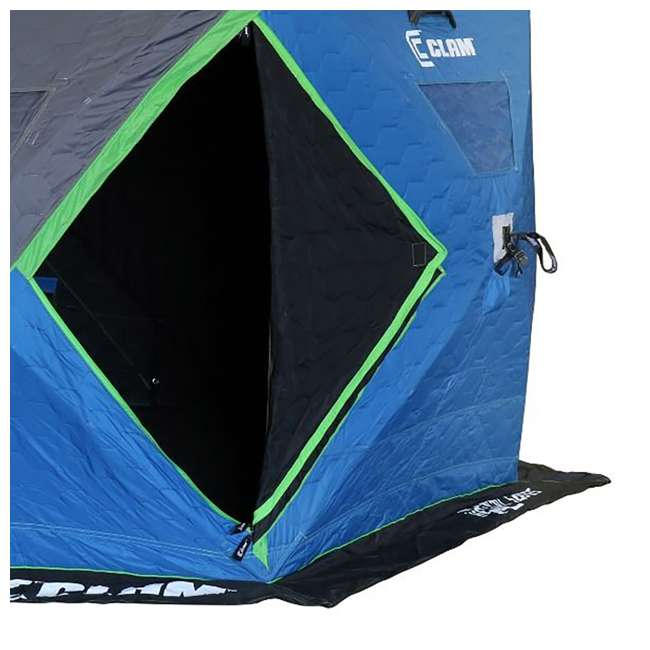 CLAM-14470 Clam X600 Thermal 5-7 Person Outdoor Portable Pop Up Ice Fishing Shelter Tent 2