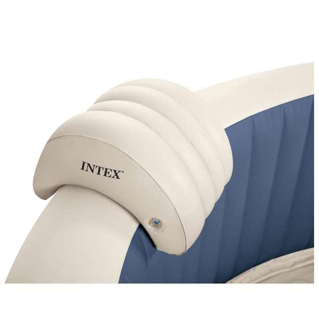 28405E + 28004E + QLC-14890 Intex Pure Spa 4-Person Home Inflatable Hot Tub, Accessory Kit, & Chemical Kit 7