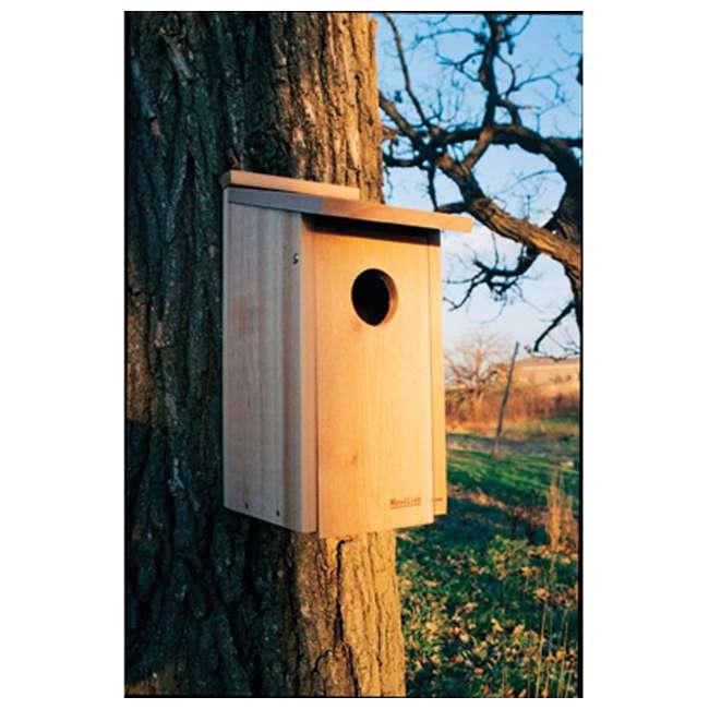 WL-24338 Woodlink Wooden Screech Owl Kestrel Bird House Nesting Box with Wood Shavings 1