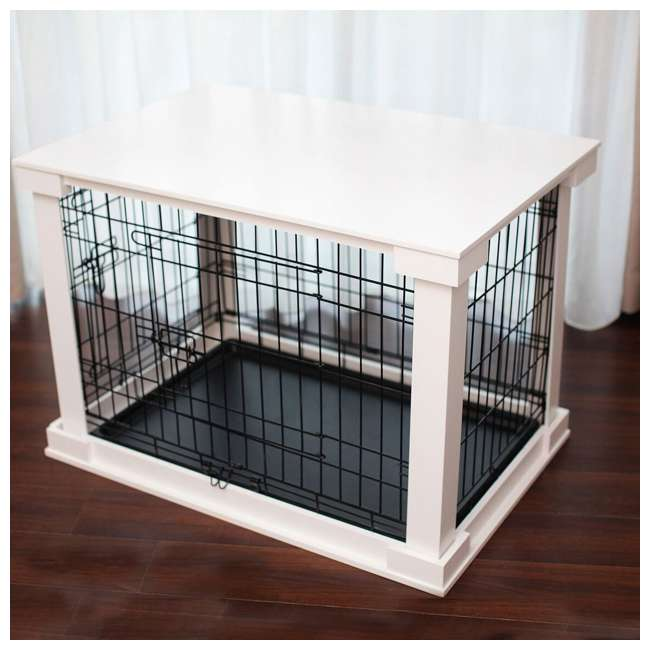 PTH0251720100 Zoovilla Decorative Dog Cat Cage Crate, White 3