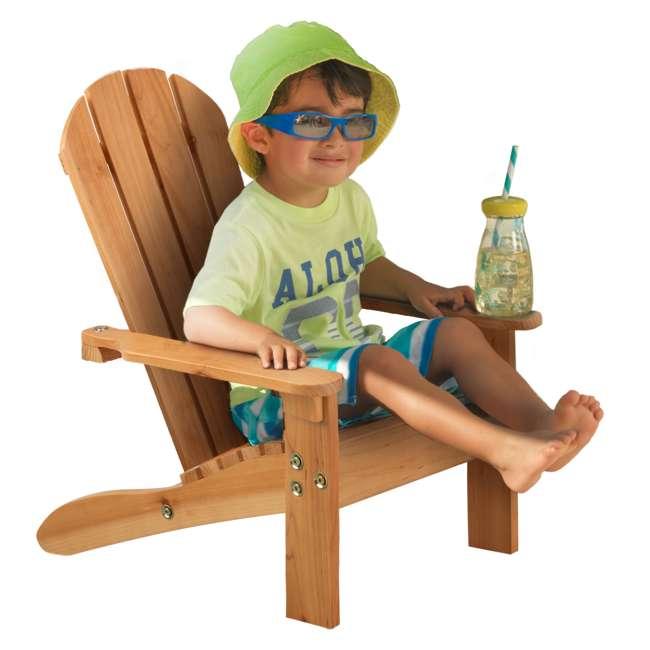 83 KidKraft Childrens Outdoor Patio Lawn Kid Sized Wooden Adirondack Chair, Honey 3