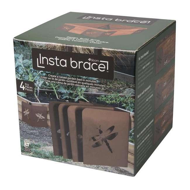 11023BL Bloom InstaBrace Steel Raised Garden Bed Brace w/ Dragonfly Cutout (4 Braces) 3