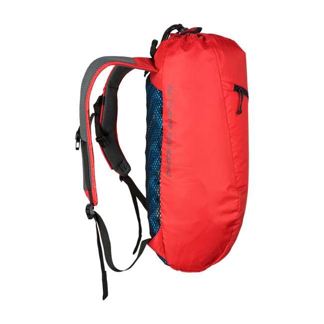 12STRD01C Klymit 20D Polyester Ultra-Lightweight Stash 18 Air Frame Day Backpack, Red 1