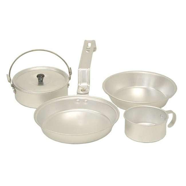 2000016402 Coleman Aluminum Mess Kit Cookware Set - Cup, Pan, Pot, & Plate