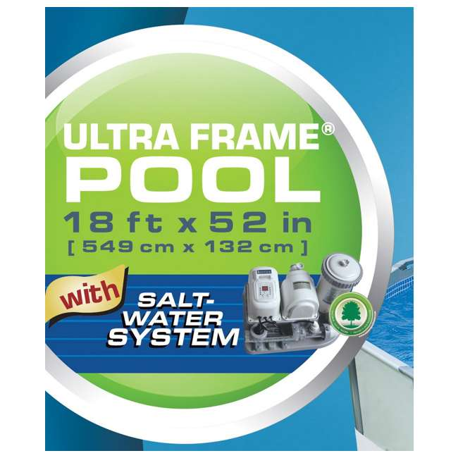 Intex 18 x 52 ultra frame swimming pool complete set 54471eb - Intex easy set pool 18 x 52 ...