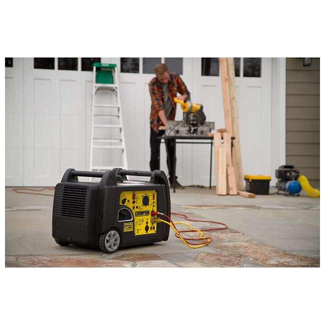 CPE-GN-100261 Champion 100261 34000-Watt Portable Wireless Electric Start Inverter Generator 3